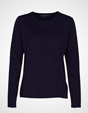 Soft Rebels Zara O-Neck Knit Roll Edge Strikket Genser Blå SOFT REBELS