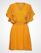 Scotch & Soda Lace Dress With Ruffles And Pom-Poms Kort Kjole Gul SCOTCH & SODA