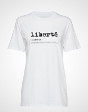 French Connection Liberte Sslv Tee T-shirts & Tops Short-sleeved Hvit FRENCH CONNECTION