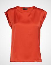 Mango Flowy T-Shirt T-shirts & Tops Short-sleeved Rød Mango