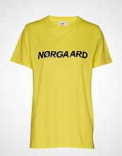 Mads Nørgaard Single Organic Trenda P C T-shirts & Tops Short-sleeved Gul MADS NØRGAARD