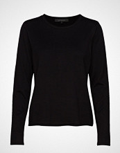 Soft Rebels Zara O-Neck Knit Roll Edge Strikket Genser Svart SOFT REBELS