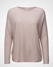 Davida Cashmere Curved Sweater Strikket Genser Rosa DAVIDA CASHMERE