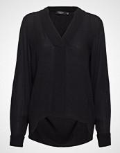 Soaked in Luxury Sl Zaya Dress Bluse Langermet Svart SOAKED IN LUXURY