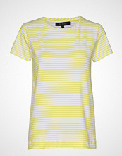 Soft Rebels Elle T-Shirt Y/D Stripes T-shirts & Tops Short-sleeved Gul SOFT REBELS