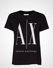 Armani Exchange Woman Jersey T-Shirt T-shirts & Tops Short-sleeved Svart ARMANI EXCHANGE