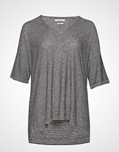 Violeta by Mango Striped Jersey T-Shirt T-shirts & Tops Short-sleeved Grå VIOLETA BY MANGO