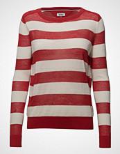 Tommy Jeans Tjw Classic Stripe Sweater Strikket Genser Rød TOMMY JEANS