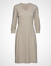 Filippa K Pleat Waist Dress Knelang Kjole Beige FILIPPA K