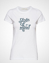 Rag & Bone State Of Mind Tee T-shirts & Tops Short-sleeved Hvit RAG & B
