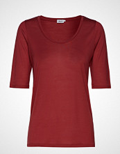 Filippa K Tencel Scoop-Neck Tee T-shirts & Tops Short-sleeved Rød FILIPPA K