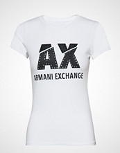 Armani Exchange Woman Jersey T-Shirt T-shirts & Tops Short-sleeved Hvit ARMANI EXCHANGE