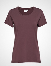Saint Tropez R1520, T-Shirt With Round Neck T-shirts & Tops Short-sleeved Lilla SAINT TROPEZ