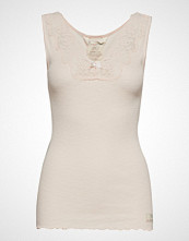 Odd Molly Rib-Eye Tank T-shirts & Tops Sleeveless Beige ODD MOLLY