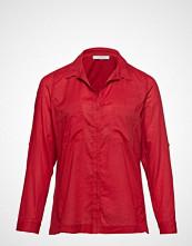 Violeta by Mango Chest-Pocket Cotton Shirt Langermet Skjorte Rød VIOLETA BY MANGO