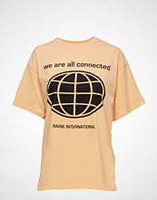 Raiine Toledo T-Shirt T-shirts & Tops Short-sleeved Oransje RAIINE