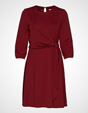 Tommy Hilfiger Barbara Wrap Dress L Knelang Kjole Rød TOMMY HILFIGER