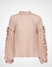 Mayla Stockholm Valeria Frill Sleeve Blouse Bluse Langermet Rosa MAYLA STOCKHOLM