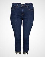 Violeta by Mango Lace Super Slim Jeans Slim Jeans Blå VIOLETA BY MANGO