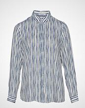 Violeta by Mango Printed Flowy Shirt Langermet Skjorte Hvit VIOLETA BY MANGO