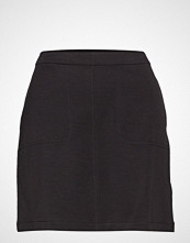 Filippa K Double Face Pocket Skirt Knelangt Skjørt Svart FILIPPA K