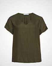 Violeta by Mango Detachable Necklace T-Shirt T-shirts & Tops Short-sleeved Grønn VIOLETA BY MANGO