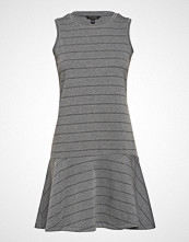 Banana Republic Sl Striped Drop Waist Dress Knelang Kjole Grå BANANA REPUBLIC
