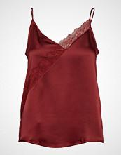 Mango Lace Top Bluse Ermeløs Rød MANGO