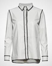 Stand Gabi Shirt Langermet Skjorte Hvit STAND