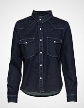 Levi's Made & Crafted Lmc S Shrnkn Dnm Shirt Lmc Shr Langermet Skjorte Blå LEVI'S MADE & CRAFTED