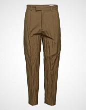 Hope Alta Trouser Bukser Med Rette Ben Brun HOPE