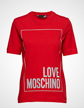 Love Moschino Love Moschino-T-Shirt T-shirts & Tops Short-sleeved Rød Love Moschino