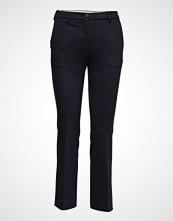 Gant O1. Jersey Pique Pant Bukser Med Rette Ben Blå GANT