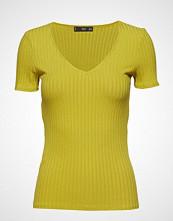 Mango Ribbed Top T-shirts & Tops Short-sleeved Gul MANGO