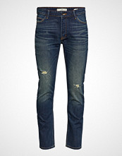 Mango Man Slim Fit Dark Vintage Wash Tim Jeans Slim Jeans Blå MANGO MAN