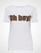 Raiine Tiffin T-Shirt T-shirts & Tops Short-sleeved Hvit RAIINE