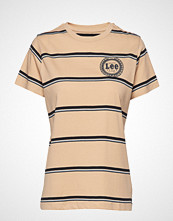 Lee Jeans Stripe T T-shirts & Tops Short-sleeved Beige LEE JEANS