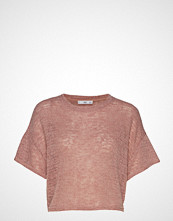 Mango Open Knit Top T-shirts & Tops Short-sleeved Rosa MANGO
