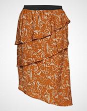 Saint Tropez U8001, Woven Skirt On Knee Knelangt Skjørt Oransje SAINT TROPEZ