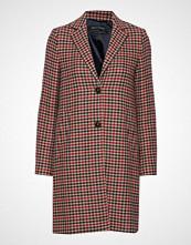 Marc O'Polo Coat With Revers Ullfrakk Frakk Multi/mønstret Marc O'Polo