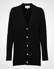 3.1 Phillip Lim Lofty Welt Pocket Cardigan W Pearls Strikkegenser Cardigan Svart 3.1 PHILLIP LIM