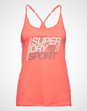 Superdry Sport Core Strappy Vest T-shirts & Tops Sleeveless Oransje SUPERDRY SPORT