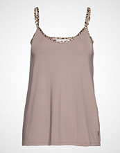 Coster Copenhagen Strap Top W. Leopard Tape T-shirts & Tops Sleeveless Beige COSTER COPENHAGEN