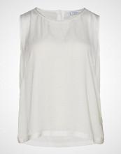 Violeta by Mango Rhinest Satin Top T-shirts & Tops Sleeveless Hvit VIOLETA BY MANGO