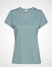 Filippa K Flared Cap Sleeve T-Shirt T-shirts & Tops Short-sleeved Blå FILIPPA K