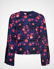 Armani Exchange Woman Woven Blouse Bluse Langermet Blå ARMANI EXCHANGE