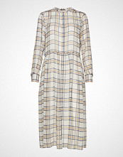 Bruuns Bazaar Check Ollie Dress Knelang Kjole Creme BRUUNS BAZAAR
