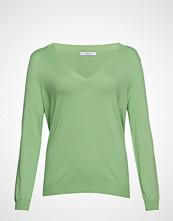 Violeta by Mango V-Neck Sweater Strikket Genser Grønn VIOLETA BY MANGO