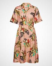 Morris Lady Donna Printed Linen Dress Kort Kjole Gul MORRIS LADY