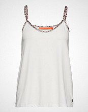 Coster Copenhagen Strap Top W. Leopard Tape T-shirts & Tops Sleeveless Hvit COSTER COPENHAGEN